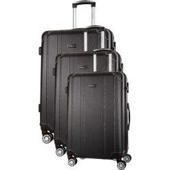 Zestaw walizek w kolorze czarnym - 3 szt. Czarne walizki marki Travel One, z materiału. W wyprzedaży za 539,95 zł.