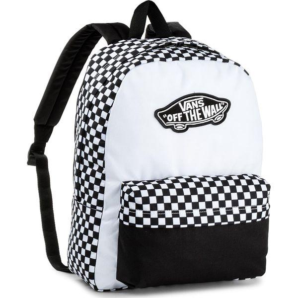 73df09d6f53e8 Plecak VANS - Realm Backpack V000NZ056M Black White - Czarne plecaki  damskie Vans. W wyprzedaży za 129