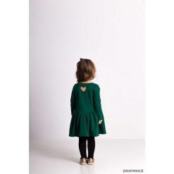 Sukienki dziewczęce dzianinowe: Marszczona sukienka zielona