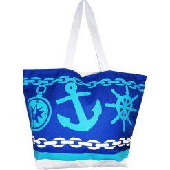 """Torba plażowa """"Acapulco"""" w kolorze granatowo-turkusowym - 35 x 58 x 23 cm. Niebieskie torby plażowe Le Comptoir de la Plage, z tworzywa sztucznego. W wyprzedaży za 38,95 zł."""