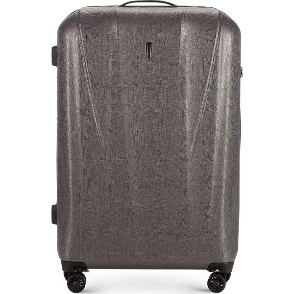0602a1aaccbf4 56-3P-963-70 Walizka duża - Szare walizki Wittchen, z gumy, duże. Za ...