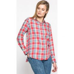 Levi's - Koszula. Brązowe koszule damskie w kratkę Levi's®, m, z bawełny, casualowe, z klasycznym kołnierzykiem, z długim rękawem. W wyprzedaży za 199,90 zł.