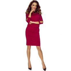 Venus wygodna sukienka dzienna BORDO. Czerwone sukienki marki Bergamo. Za 139,99 zł.
