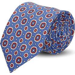 Krawaty męskie: krawat platinum niebieski classic 236