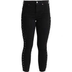 Boyfriendy damskie: Topshop Petite SIDE LACE JAMIE Jeans Skinny Fit black