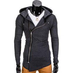 Bluzy męskie: BLUZA MĘSKA ROZPINANA Z KAPTUREM B680 – GRAFITOWA