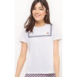 T-shirty damskie: Gładki t-shirt z okrągłym dekoltem