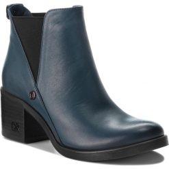 Botki CARINII - B3705/N H49-000-POL-861. Niebieskie buty zimowe damskie Carinii, ze skóry. Za 349,00 zł.