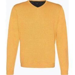Finshley & Harding - Sweter męski z dodatkiem kaszmiru, żółty. Czarne swetry klasyczne męskie marki Finshley & Harding, w kratkę. Za 229,95 zł.