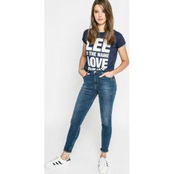 Lee - Jeansy. Niebieskie jeansy damskie Lee, z bawełny. W wyprzedaży za 299,90 zł.