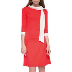 Sukienka w kolorze czerwonym. Czerwone sukienki marki YULIYA BABICH, xs, ze stójką, midi. W wyprzedaży za 149,95 zł.