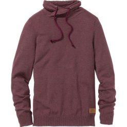 Swetry męskie: Sweter Regular Fit bonprix czerwony klonowy melanż