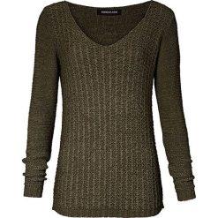 Swetry klasyczne damskie: Sweter w kolorze khaki