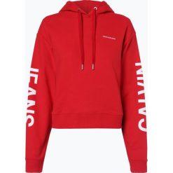 Calvin Klein Jeans - Damska bluza nierozpinana, czerwony. Czerwone bluzy sportowe damskie marki Calvin Klein Jeans, s, z jeansu. Za 489,95 zł.
