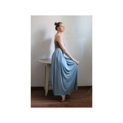 Długa zwiewna spódnica błekit. Niebieskie długie spódnice Szarymary, na lato, xs, z gumy. Za 119,00 zł.