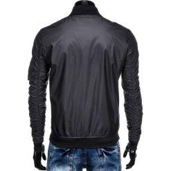 KURTKA MĘSKA PRZEJŚCIOWA BOMBERKA C350 - CZARNA. Czarne kurtki męskie bomber marki Ombre Clothing, m, z poliesteru. Za 99,00 zł.