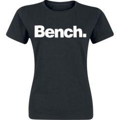 Bench Slim Logo Tee Koszulka damska czarny/biały. Białe bluzki damskie Bench, s. Za 42,90 zł.