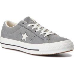 Tenisówki CONVERSE - One Star Ox 161584C Mason/Egret/Vintage White. Szare tenisówki męskie marki Converse, z gumy. W wyprzedaży za 269,00 zł.