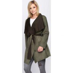 Płaszcze damskie pastelowe: Ciemnozielony Płaszcz Relating