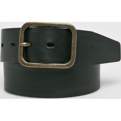 Trussardi Jeans - Pasek skórzany. Czarne paski męskie Trussardi Jeans, w paski, z jeansu. W wyprzedaży za 259,90 zł.