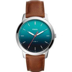 Zegarek FOSSIL - The Minimalist 3H FS5440 Brown/Silver. Różowe zegarki męskie marki Fossil, szklane. Za 545,00 zł.