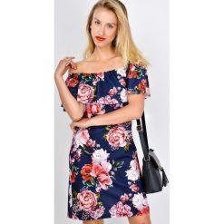Sukienki hiszpanki: Sukienka hiszpanka w kwiaty