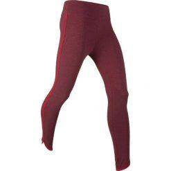 Legginsy sportowe ze stretchem, dł. 7/8, Level 1 bonprix czerwony klonowy melanż. Czerwone legginsy we wzory marki bonprix. Za 27,99 zł.