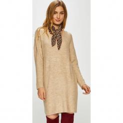 Only - Sukienka. Szare sukienki dzianinowe marki ONLY, na co dzień, l, casualowe, mini, proste. Za 149,90 zł.