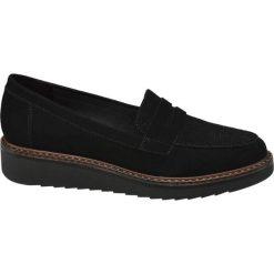 Półbuty damskie Graceland czarne. Czarne półbuty damskie skórzane marki Graceland, w kolorowe wzory. Za 89,90 zł.
