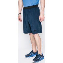 Adidas Performance - Szorty. Szare spodenki sportowe męskie marki adidas Performance, z elastanu, sportowe. W wyprzedaży za 79,90 zł.