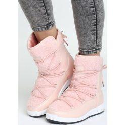 Buty zimowe damskie: Różowe Śniegowce Snowy Girl