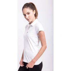 Koszulka polo damska TSD050z - biały - 4F. Białe bluzki sportowe damskie 4f, na jesień, l, z bawełny. Za 49,99 zł.