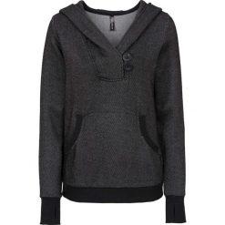 Bluzy rozpinane damskie: Bluza dresowa bonprix czarny melanż
