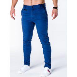 Spodnie męskie: SPODNIE MĘSKIE CHINO P646 – NIEBIESKIE