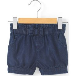 Szorty dżinsowe, 1 mies. - 3 lata. Niebieskie spodenki dziewczęce marki La Redoute Collections, z bawełny. Za 52,88 zł.