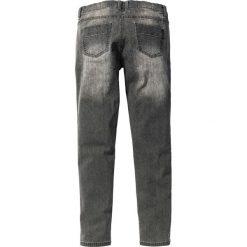 """Dżinsy """"Super-stretch"""" Skinny Fit Straight bonprix jasnoszary denim """"used"""". Szare jeansy męskie relaxed fit marki bonprix, z denimu. Za 59,99 zł."""
