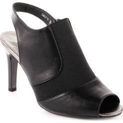 Rzymianki damskie: Sandały damskie zabudowane z gumką czarne Jezzi