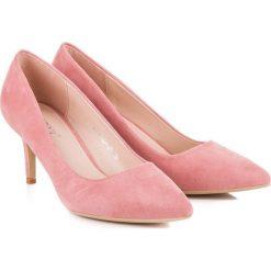 Buty ślubne damskie: CZÓŁENKA DAMSKIE NA OBCASIE MILAYA różowe