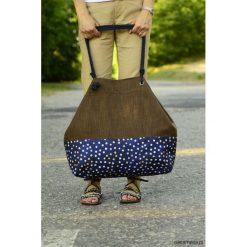 Torba na zakupy KROPKI. Szare shopper bag damskie Pakamera, w kropki, z tkaniny. Za 89,00 zł.