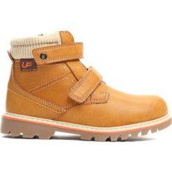 Camelowe Traperki Suburbanite. Brązowe buty zimowe chłopięce Born2be, z materiału, z okrągłym noskiem, na zamek. Za 69,99 zł.