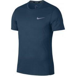 Nike T-Shirt Męski M Nk Cool Miler Top Ss Blue Force Htr Green Abyss S. Niebieskie t-shirty męskie Nike, m, z tkaniny. Za 155,00 zł.
