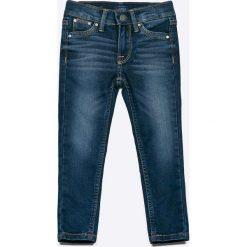 Pepe Jeans - Jeansy dziecięce Snicker 92-180 cm. Niebieskie rurki dziewczęce Pepe Jeans, z bawełny. W wyprzedaży za 199,90 zł.