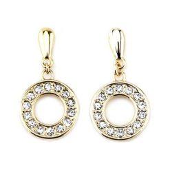 Kolczyki damskie: Pozłacane kolczyki-wkrętki z kryształkami Swarovskiego