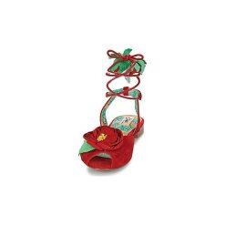 Sandały Miss L'Fire  ROSETTA. Czerwone sandały damskie Miss L'Fire. Za 423,20 zł.