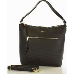 NOBO Superwygodna torba z dwoma paskami czarny. Czarne torebki klasyczne damskie marki Nobo, w paski, ze skóry. Za 169,00 zł.
