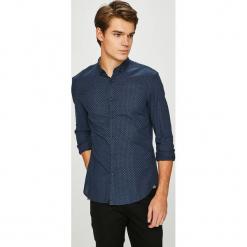 Tom Tailor Denim - Koszula. Szare koszule męskie na spinki marki S.Oliver, l, z bawełny, z włoskim kołnierzykiem, z długim rękawem. Za 169,90 zł.