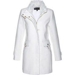 Płaszcze damskie: Płaszcz żakietowy z domieszką wełny bonprix biel wełny
