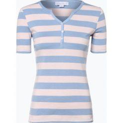 Brookshire - T-shirt damski, niebieski. Niebieskie t-shirty damskie brookshire, m, w paski, z bawełny, z kołnierzem typu henley. Za 89,95 zł.