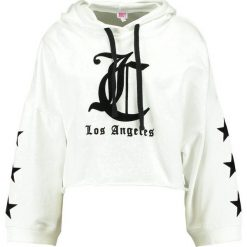 Bluzy rozpinane damskie: Juicy Couture TERRY LOGO HOODED  Bluza z kapturem bleached bone