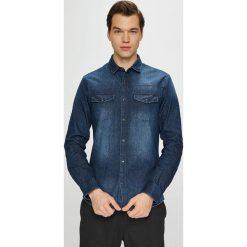 Only & Sons - Koszula. Szare koszule męskie jeansowe marki Only & Sons, l, z klasycznym kołnierzykiem, z długim rękawem. Za 169,90 zł.